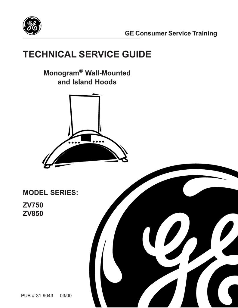 Monogram Stainless Steel Range Hood Service manual | manualzz com