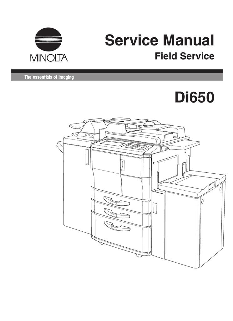 Minolta Di650 Service Manual
