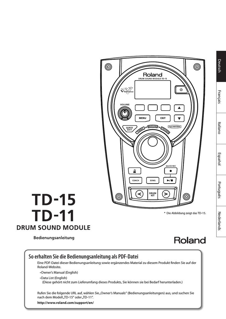 Roland TD-15 TD-11 Bedienungsanleitung - Drum-Tec | manualzz.com