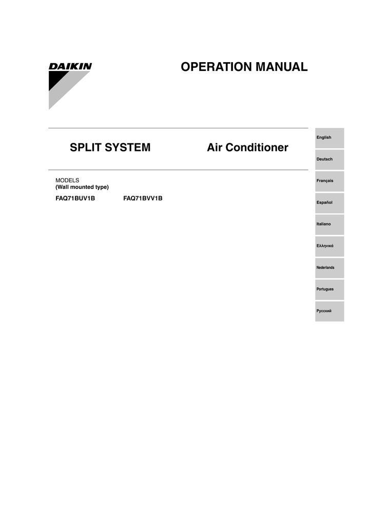 Daikin FAQ71BVV1B Instruction manual | manualzz com