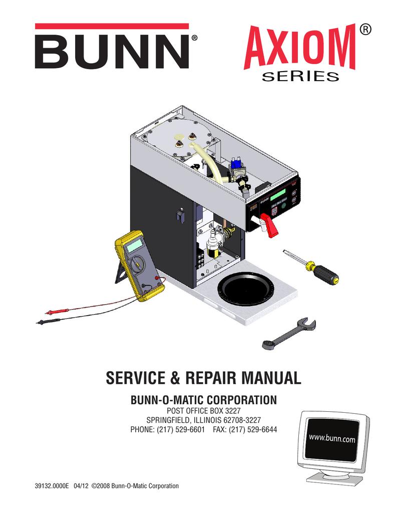 bunn axiom 0 6 twin repair manual manualzz com Braun Wiring Diagram