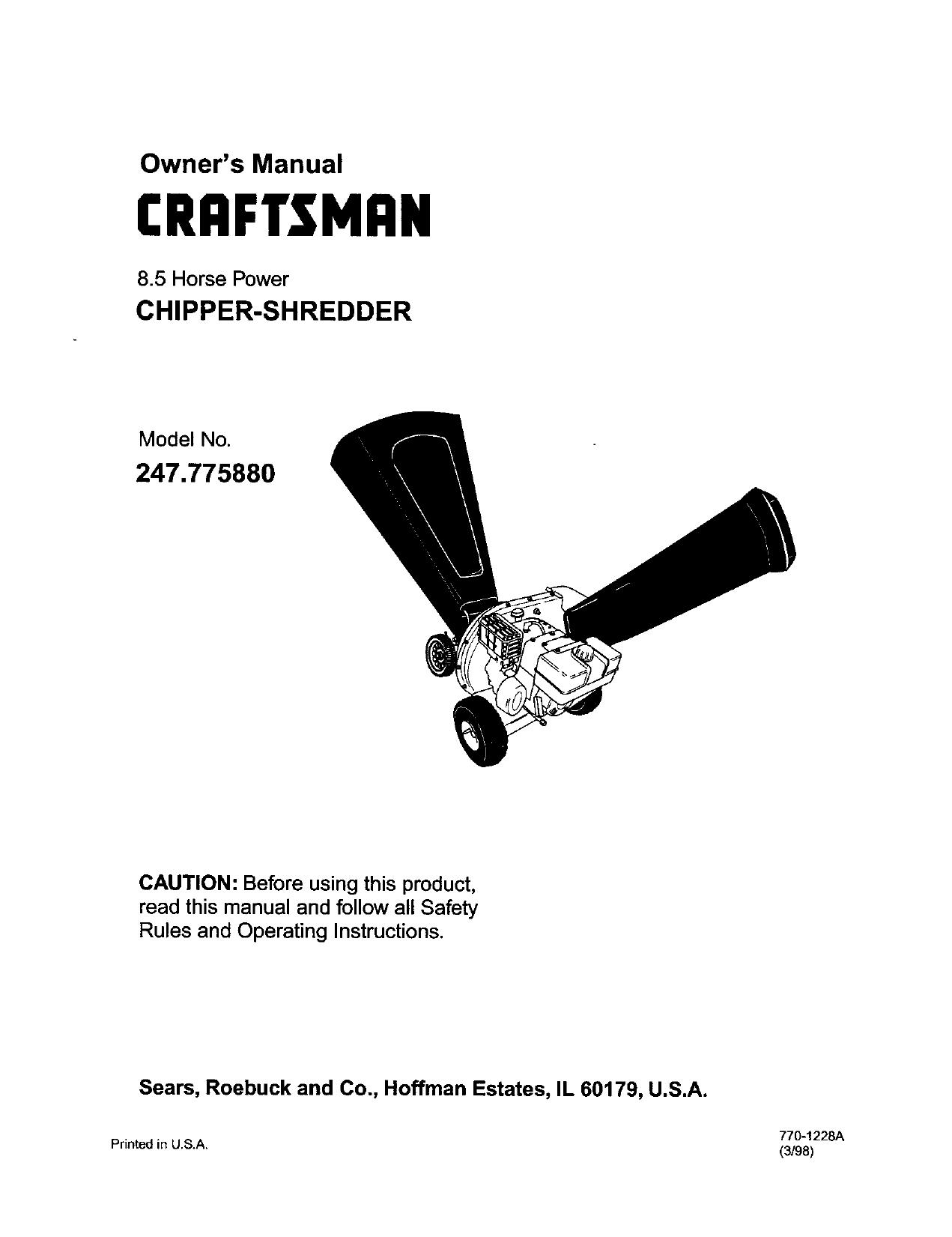 gujarat24news.com Troy-Bilt Chipper Blade Fasteners Craftsman MTD ...