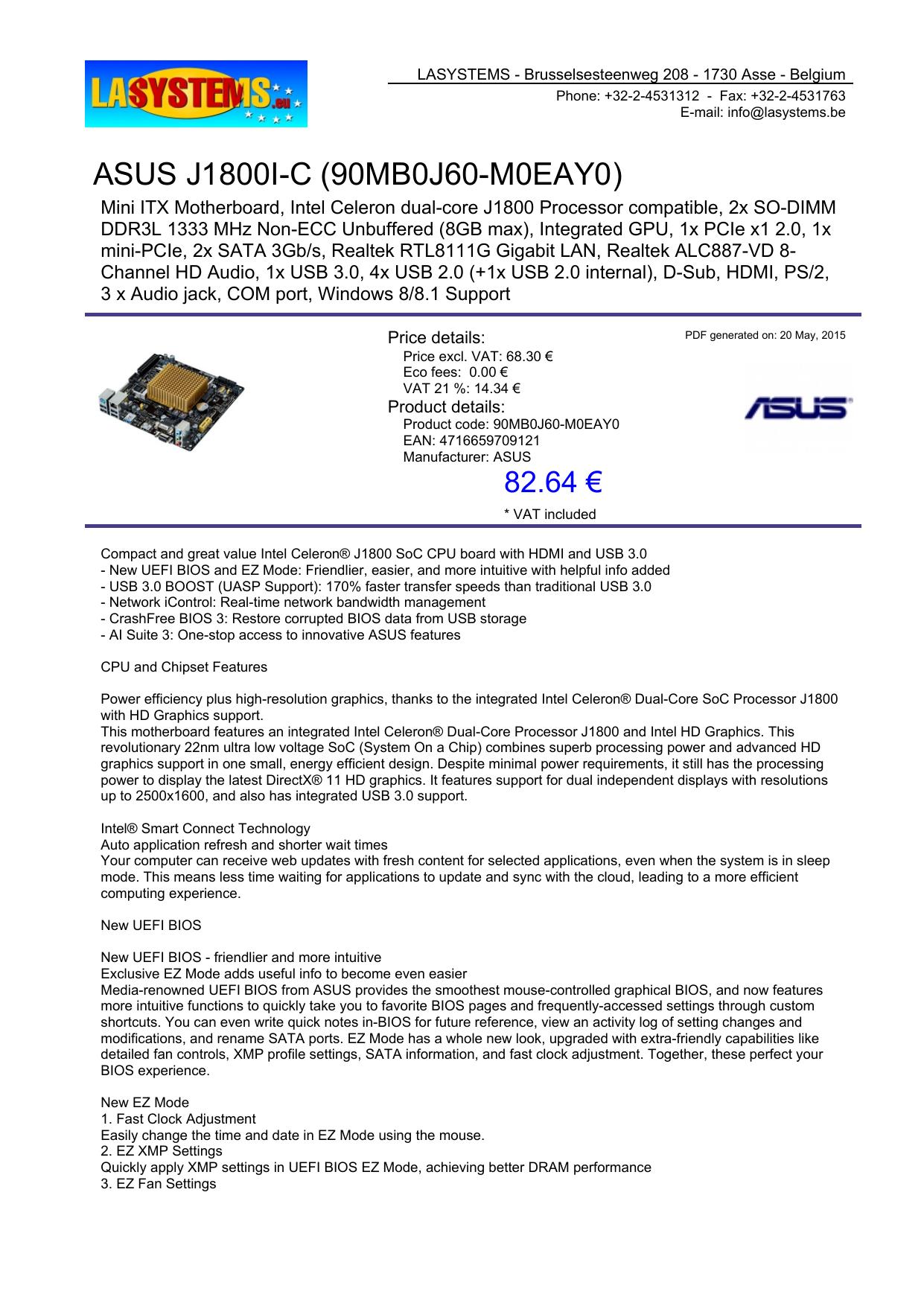 ASUS J1800I-C (90MB0J60-M0EAY0) | manualzz com