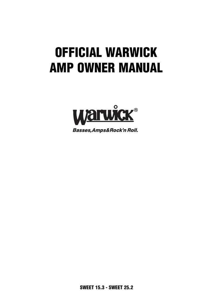 Warwick SWEET 25.2 Technical data   manualzz.com on