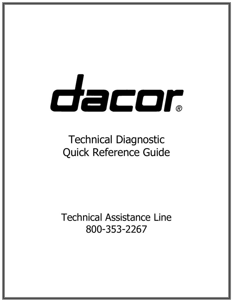 Dacor CM24P-1 Troubleshooting guide | manualzz.com on