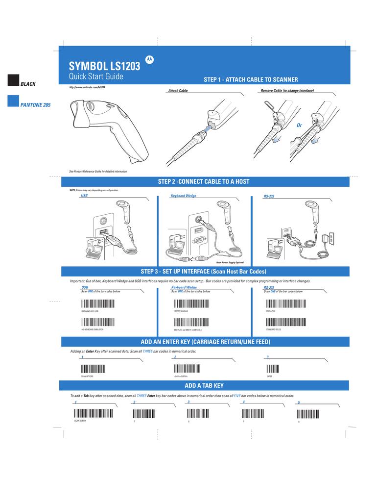 Motorola LS1203 Instruction manual