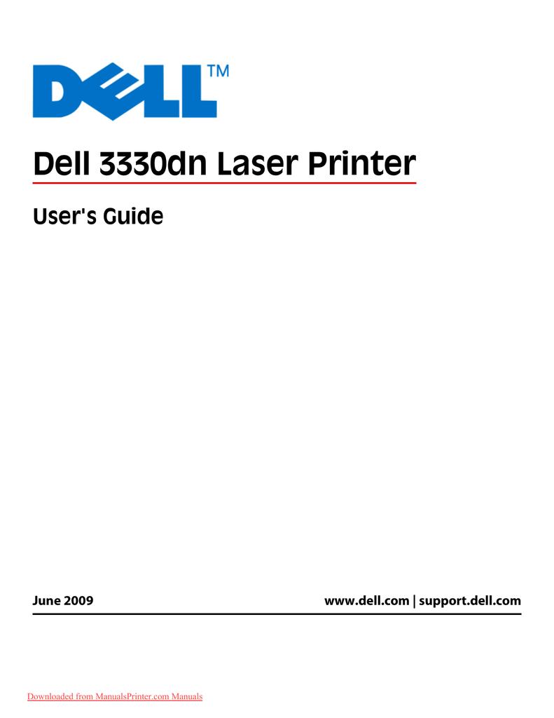 DELL DELL 3330DN LASER PRINTER XL DRIVER UPDATE