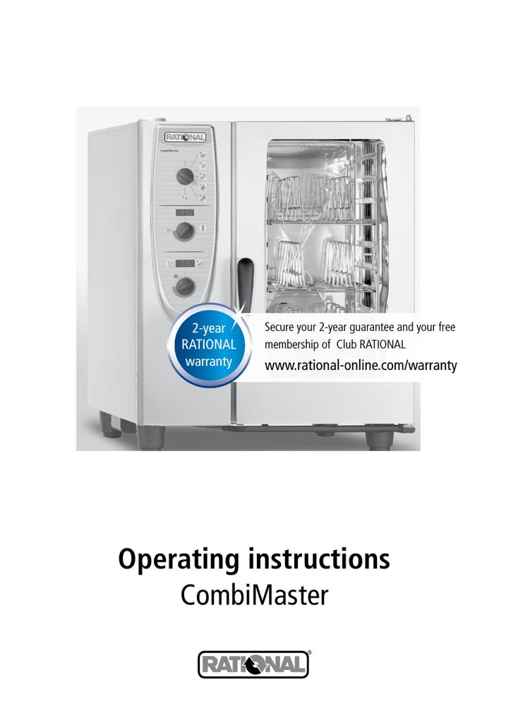Rational Combimaster Cm Operating Instructions Manualzz