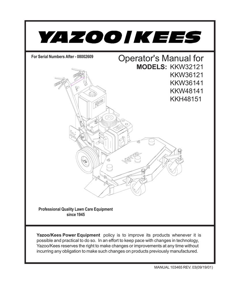 Yazoo Wiring Diagram