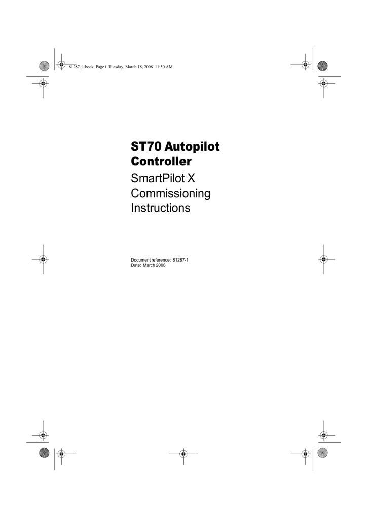 Raymarine SmartPilot SPX-30 Installation manual | manualzz com
