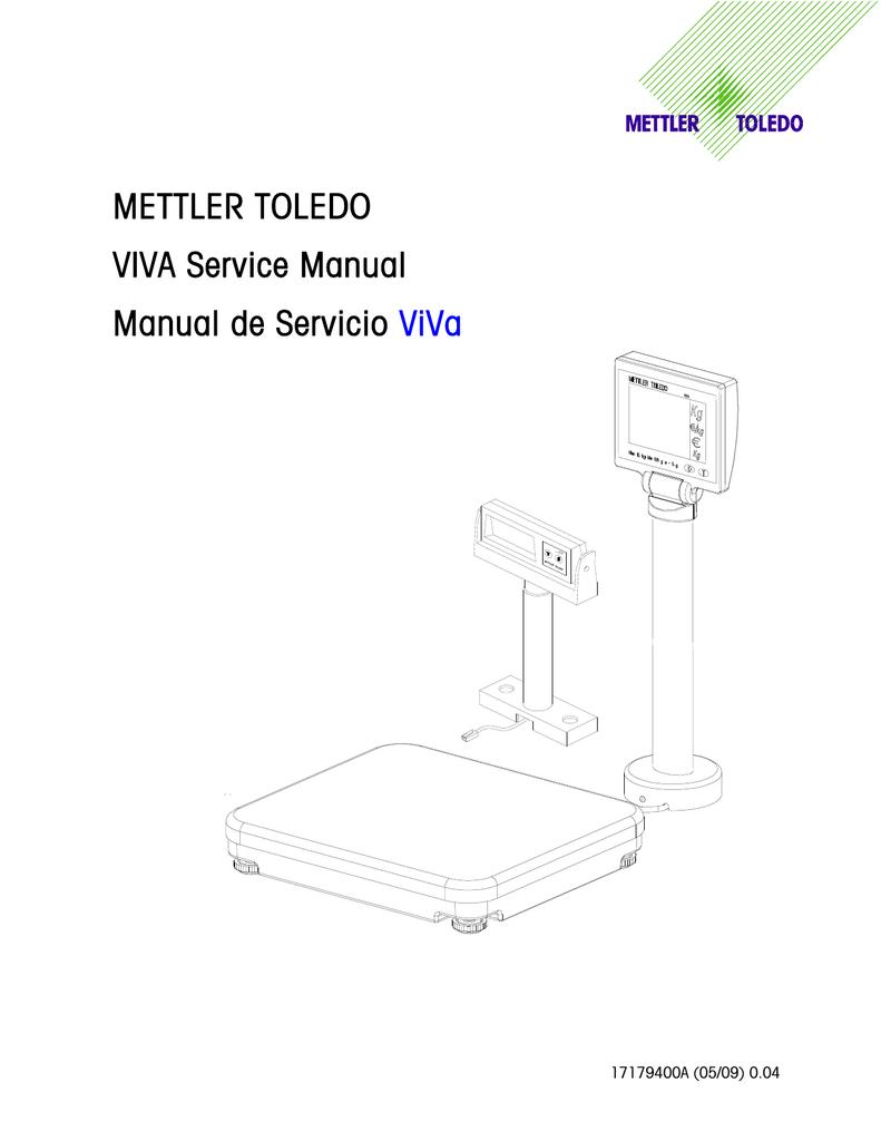 Mettler Toledo Viva Service Manual Load Cell Wiring