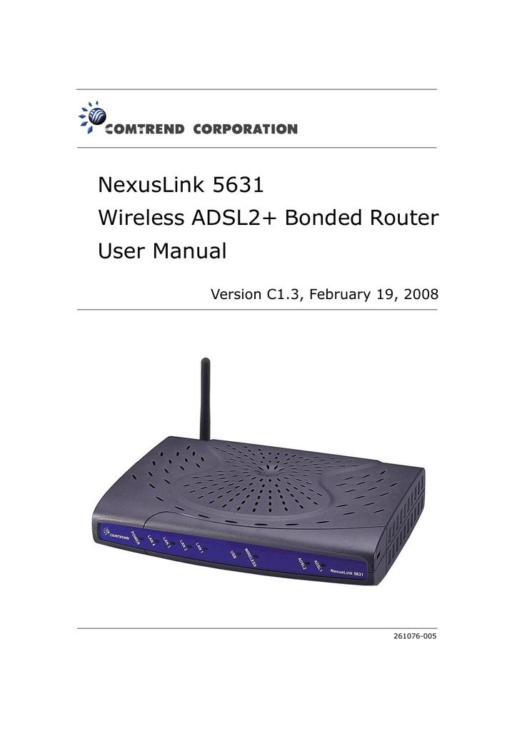 Comtrend Corporation NexusLink 5631 User Manual