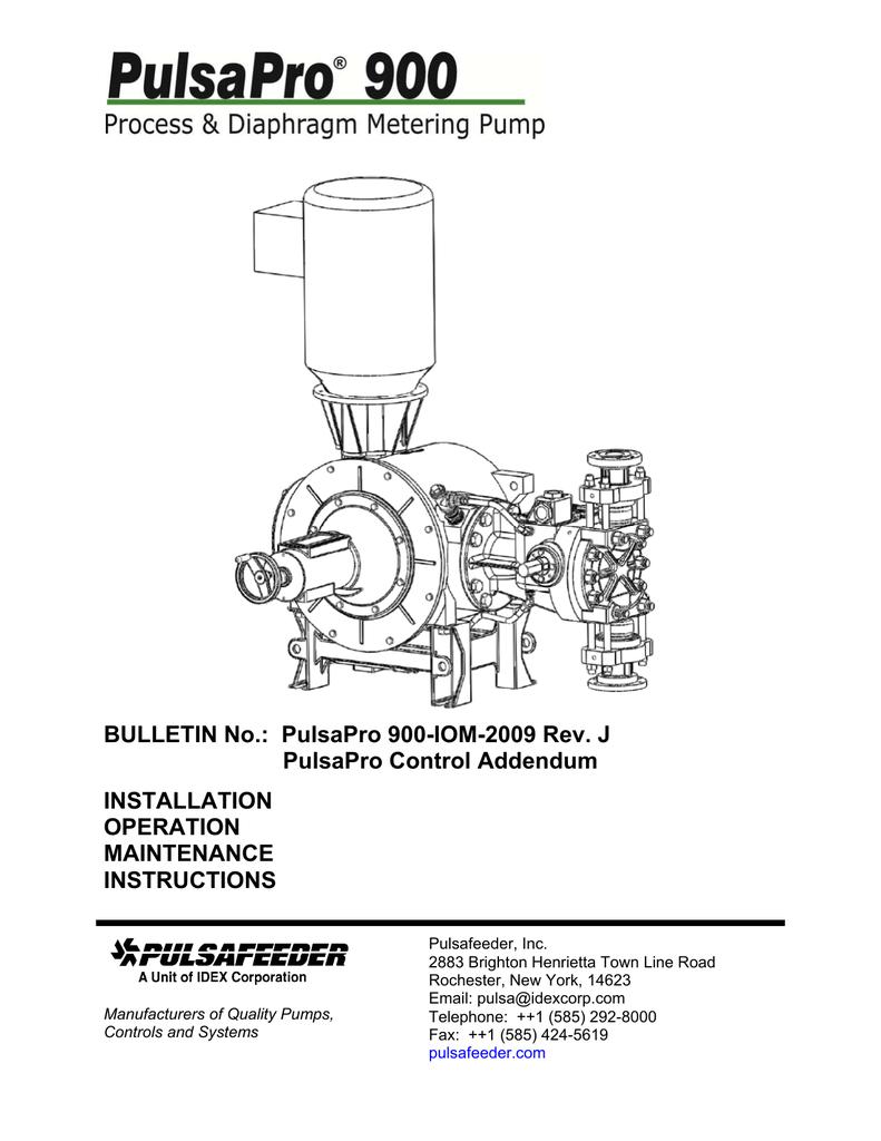 Pulsafeeder Pump Manual