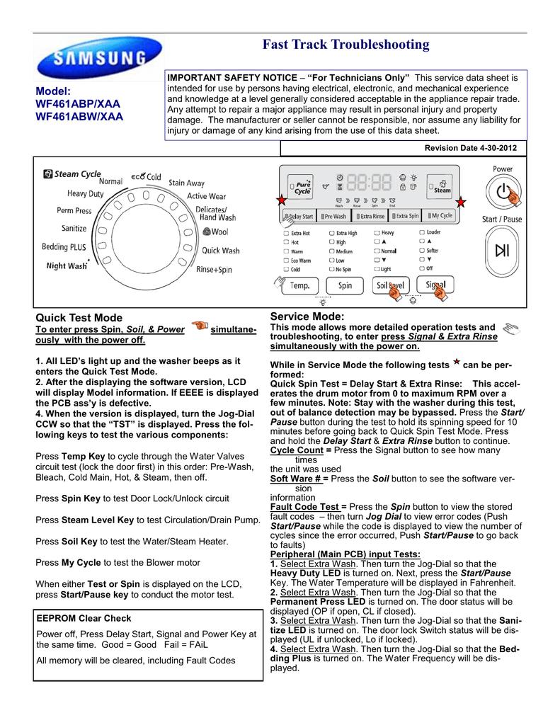 Samsung WF461ABW/XAA User manual   manualzz com