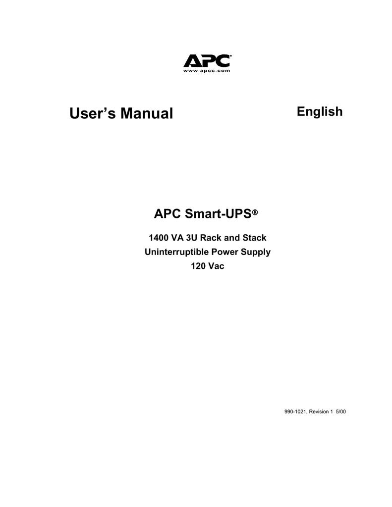 APC Back UPS 1400 VA User`s manual | manualzz com