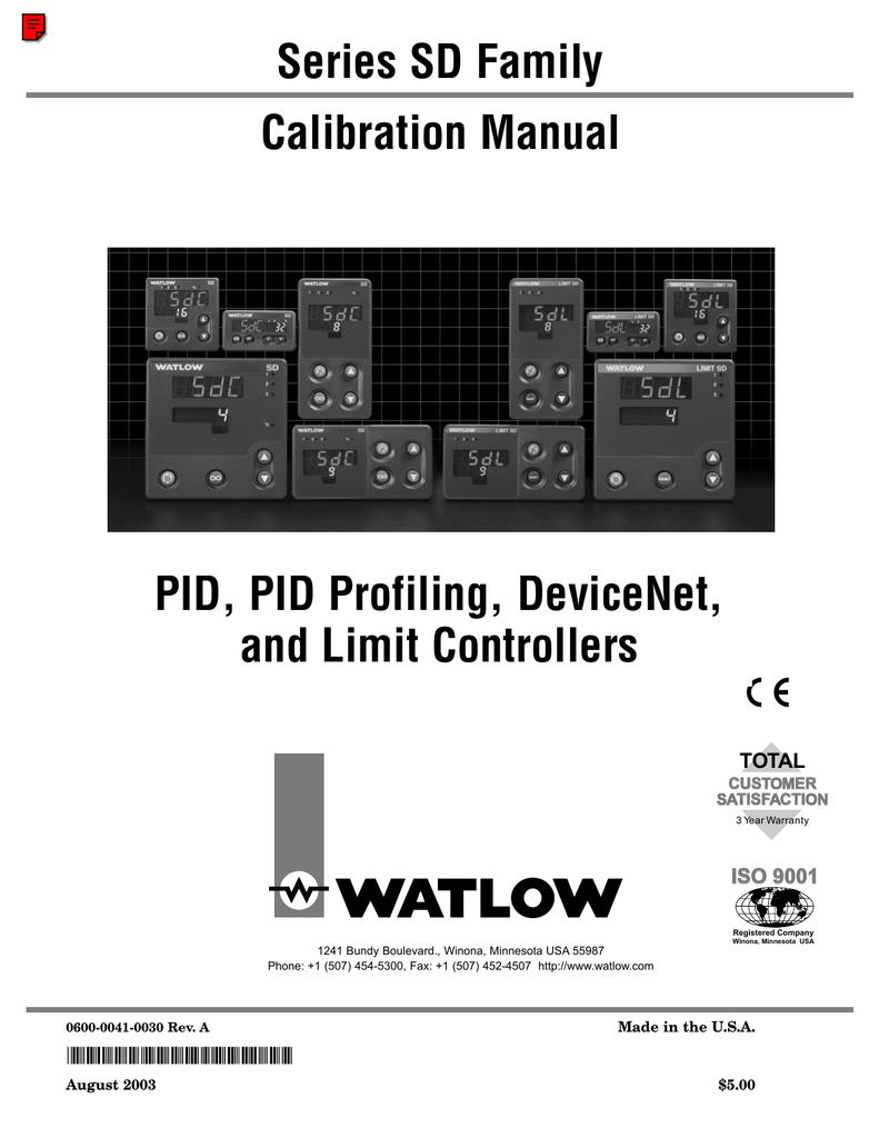 Watlow Series SD CAL | manualzz.com on