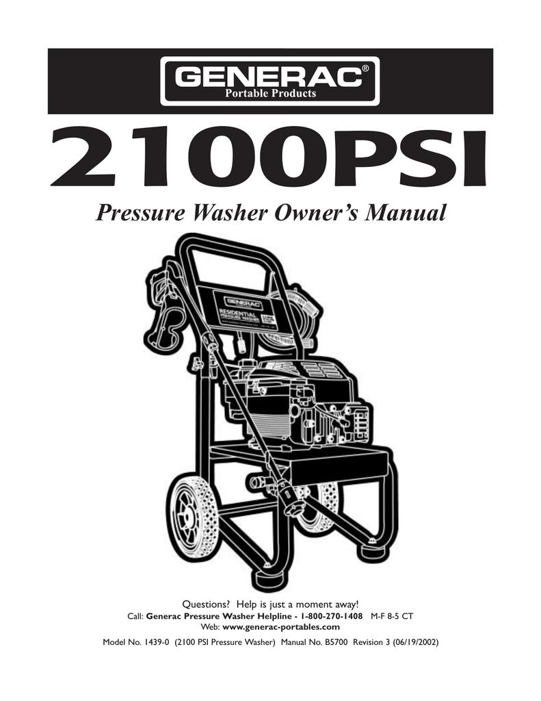 Briggs and Stratton 2,100 PSI Pressure Washer | 020345-0 ...