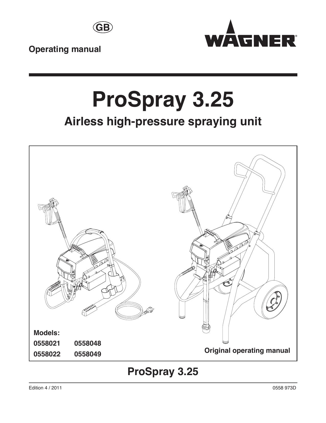 WAGNER ProSpray 3.25 Operating instructions   manualzz.com on