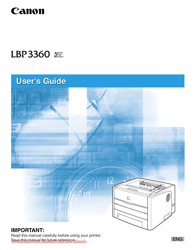 Canon LBP-3360 User`s guide | manualzz com
