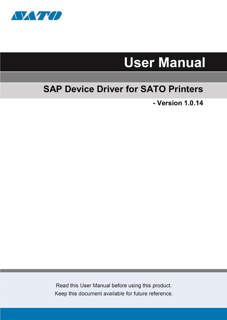 SATO CL4NX User manual | manualzz com