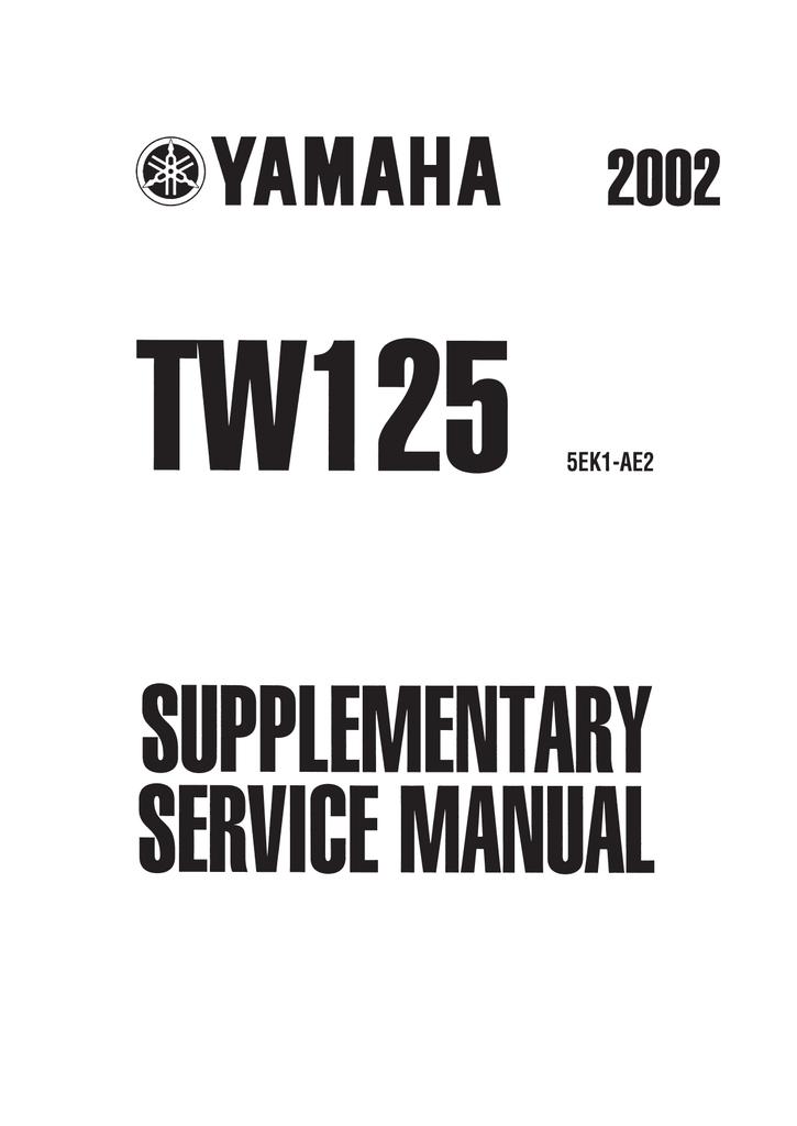 Yamaha TW125 (5RS1) Service manual #211D1E
