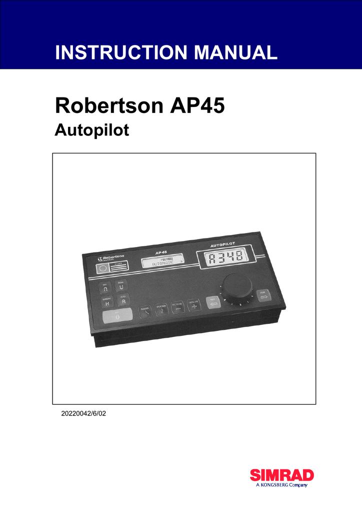 Simrad ROBERTSON AP45 Instruction manual | manualzz.com on
