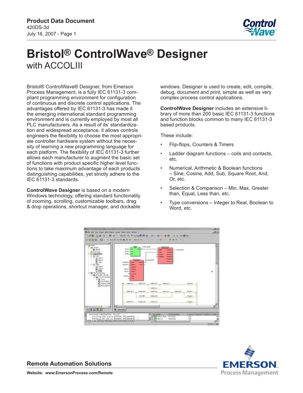 Bristol® ControlWave® Designer | manualzz com
