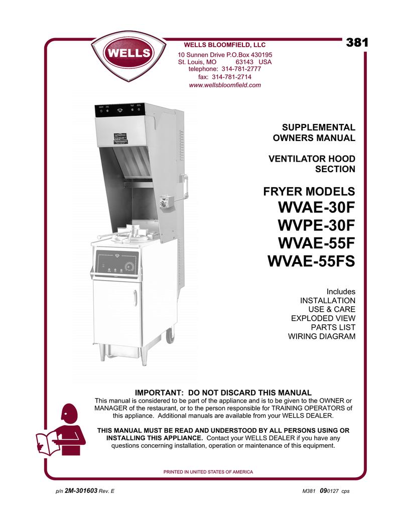 Wells WVAE-30F Specifications | manualzz.com on