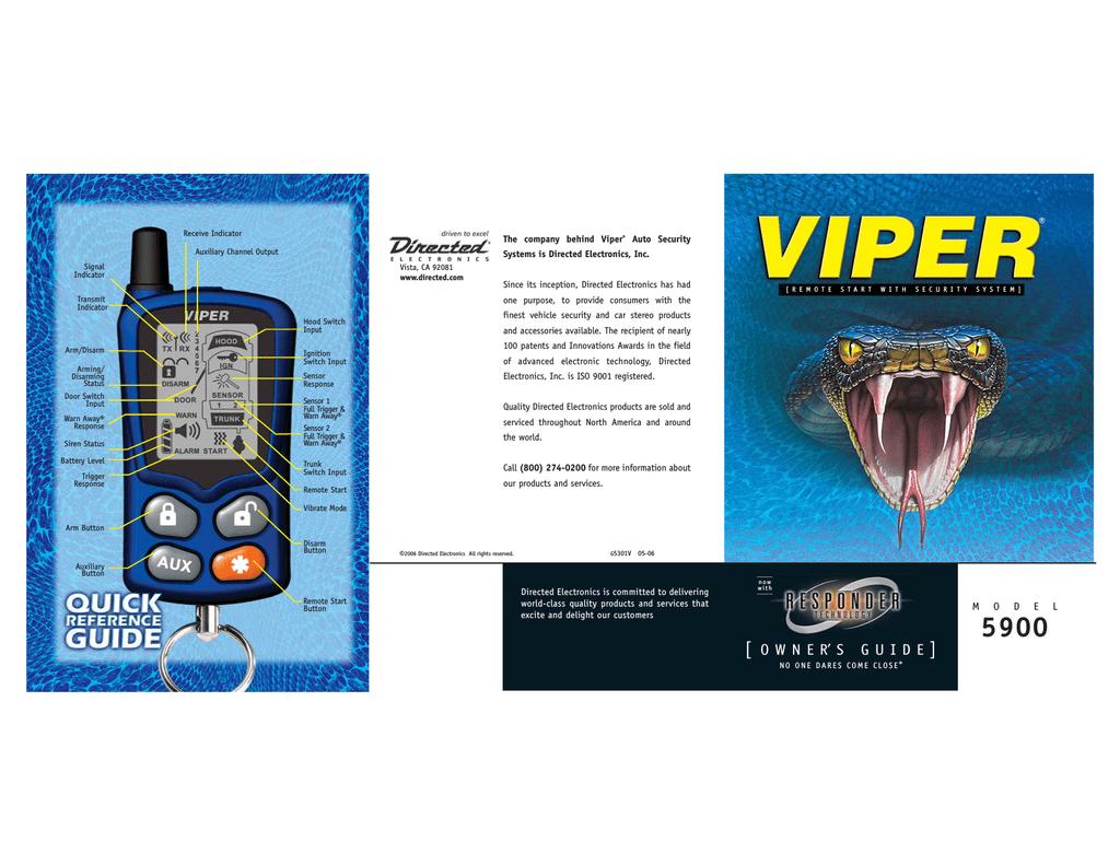 Viper 5900 Programming instructions | Manualzzmanualzz