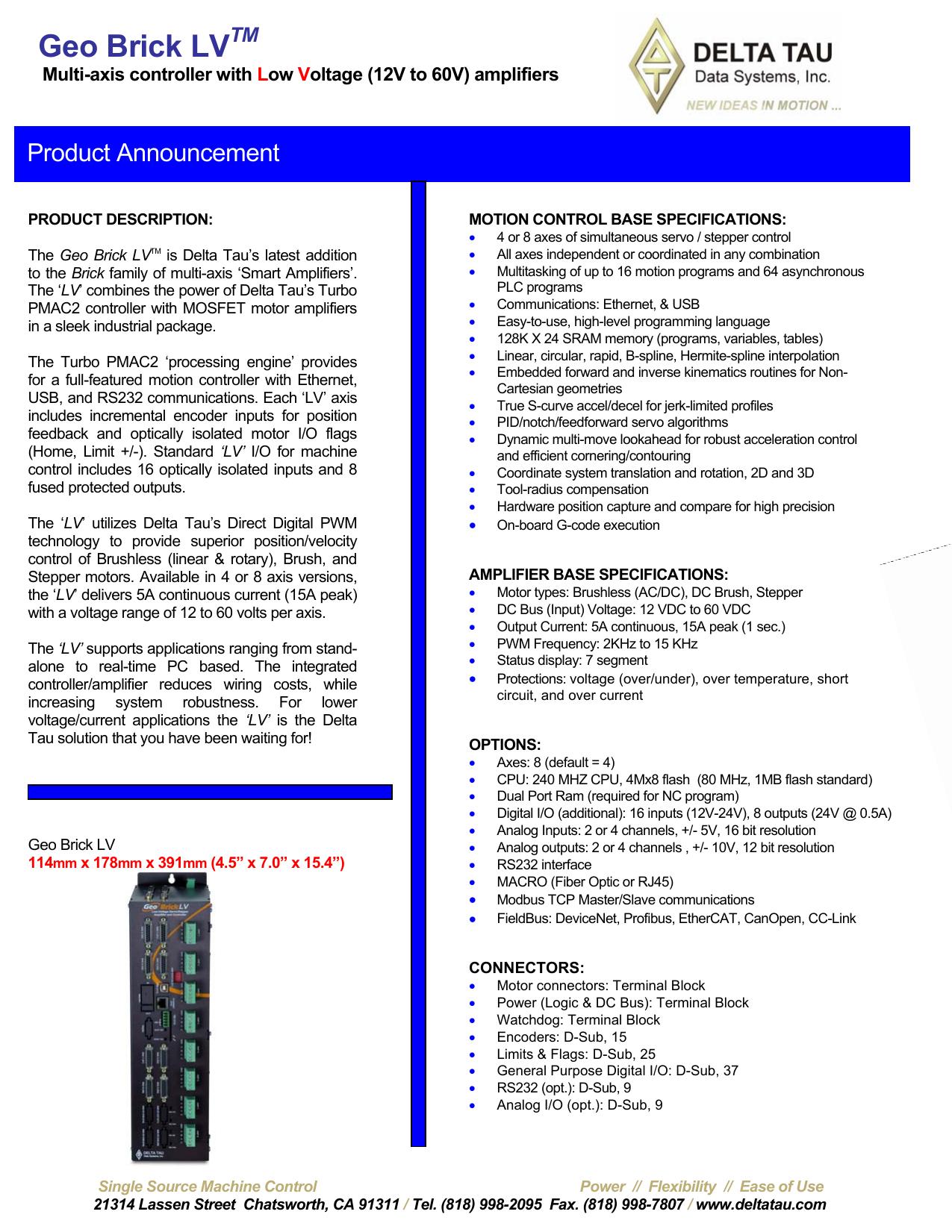 Geo Brick Lv 240w Mosfet Amplifier