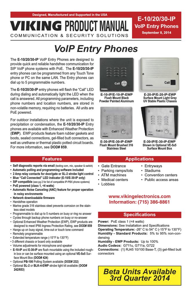 Viking PB-100 Product manual | manualzz com