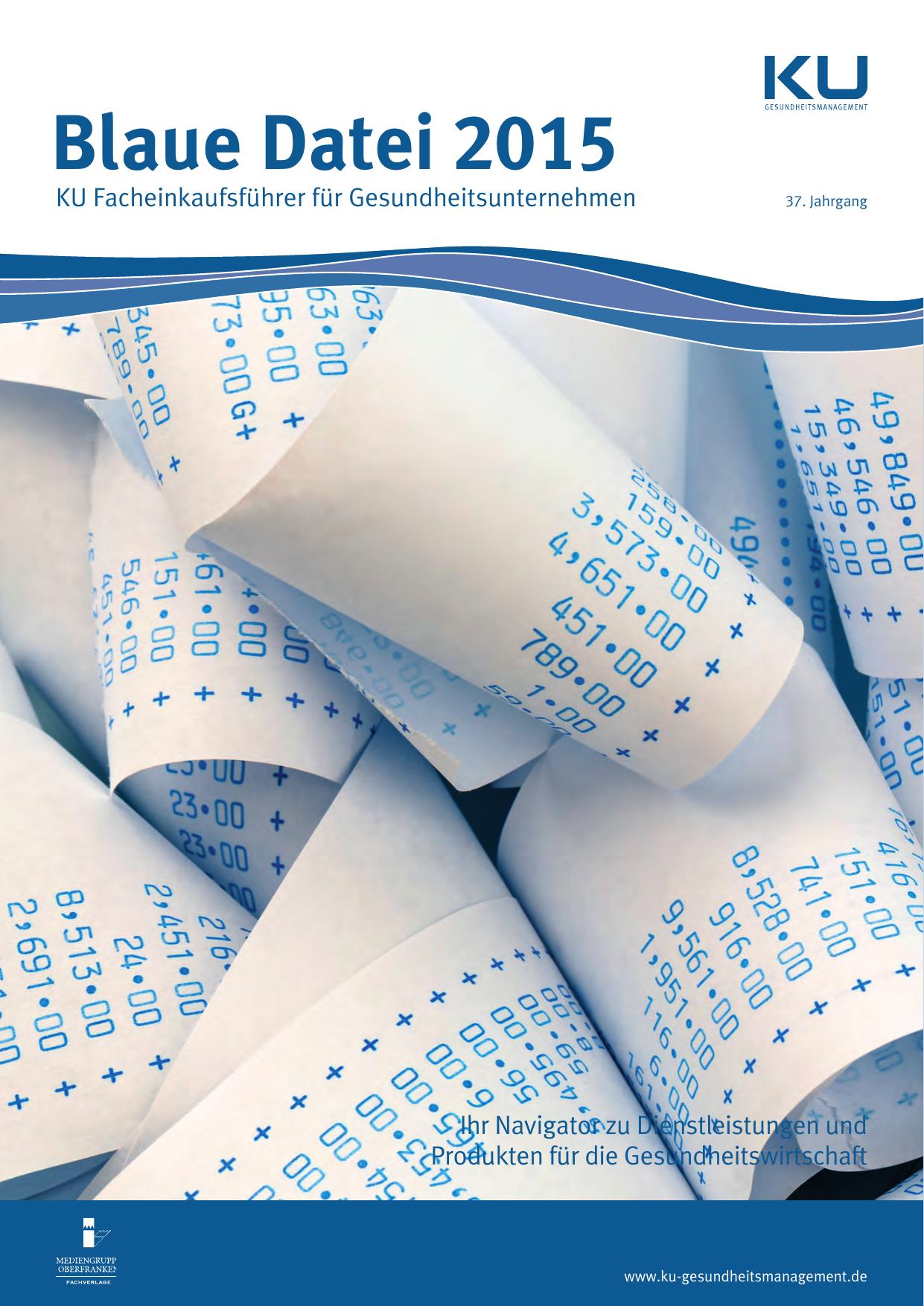 Blaue Datei 2015 - KU Gesundheitsmanagement | manualzz.com