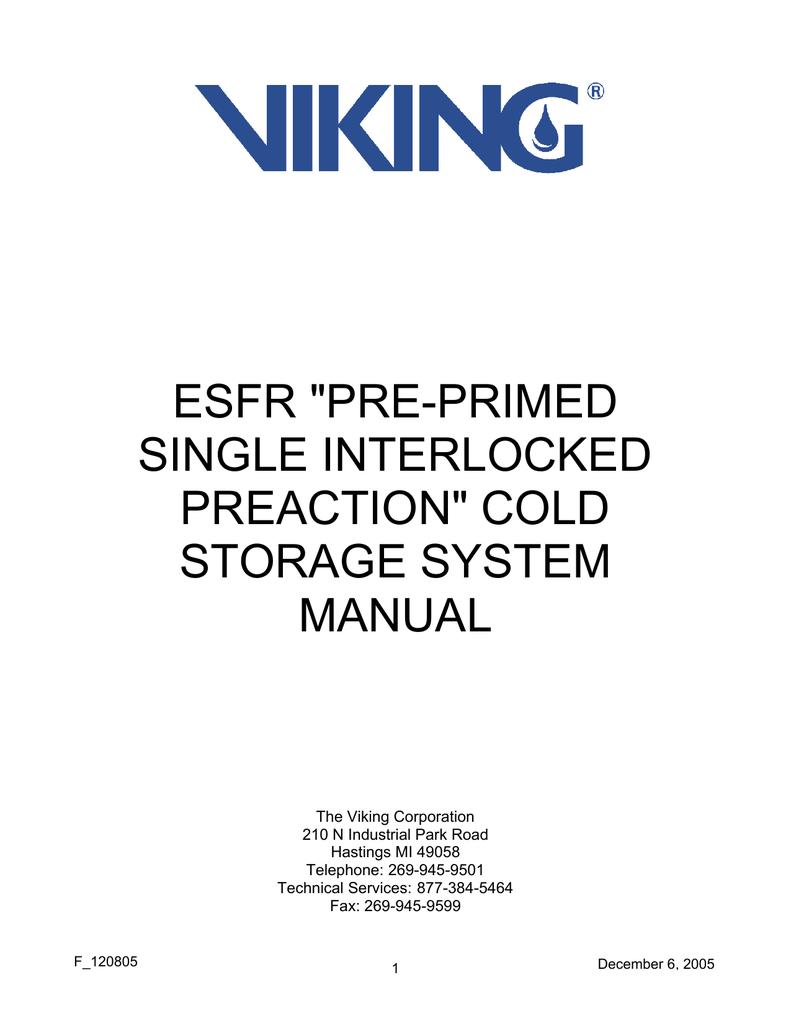 Viking ESFR Technical data | manualzz com