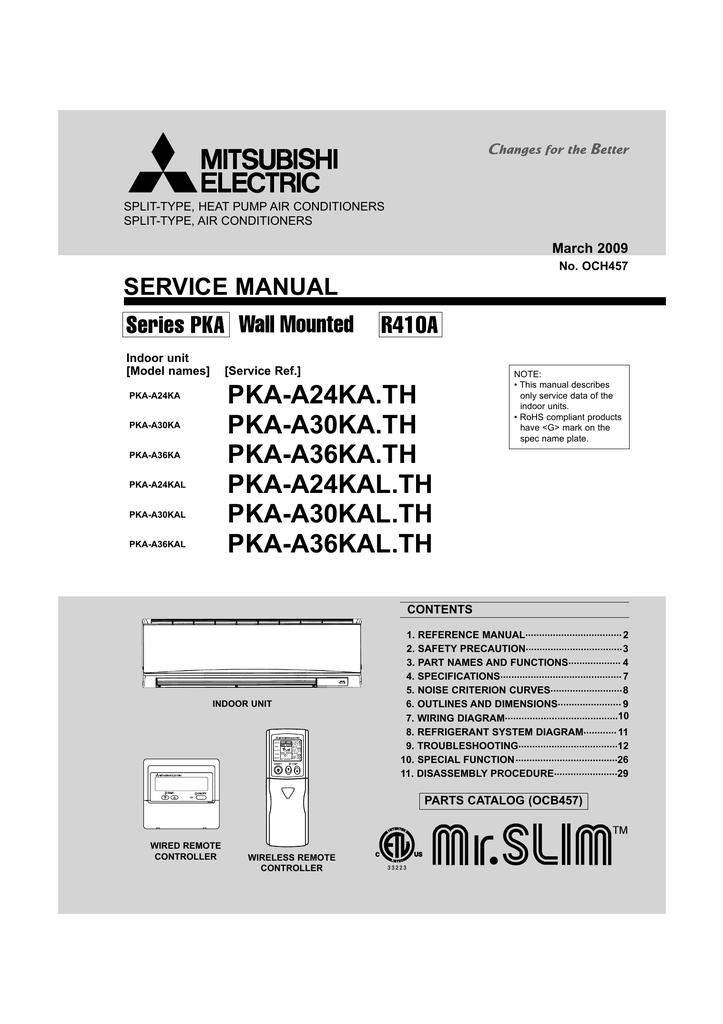 Code Electronic A24 Service manual | Manualzz | Split System Wiring Diagrams For Mitsubishi Pkaa24 |  | Manualzz