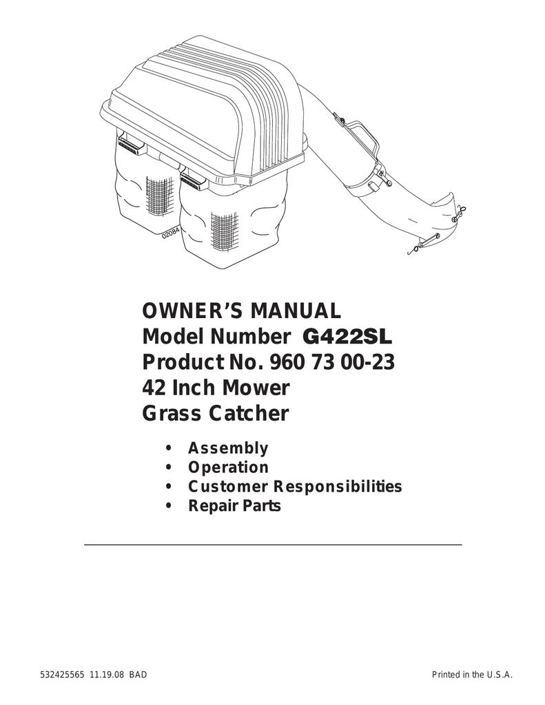 Ariens G422sl Owner S Manual Manualzz