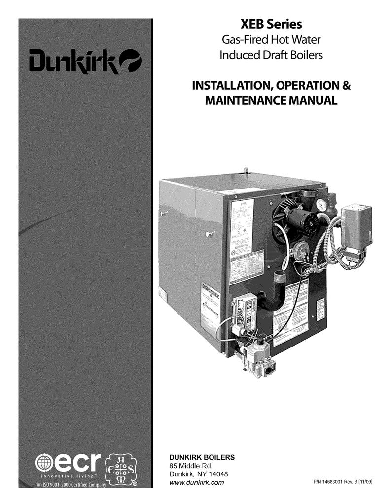 dunkirk xeb 4 operating instructions manualzz com rh manualzz com Coal Boiler Diagram Dunkirk Q90 100 Boiler Manual