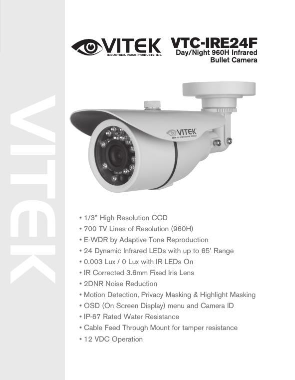 VTC-IRLED30A 6mm LONG RANGE INFRARED CAMERA