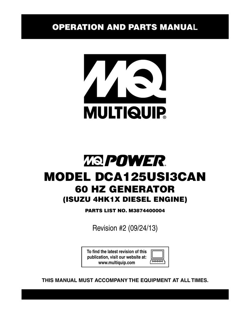 multiquip dca125usi3can specifications manualzz com rh manualzz com Simple Generator Diagram Simple Generator Diagram