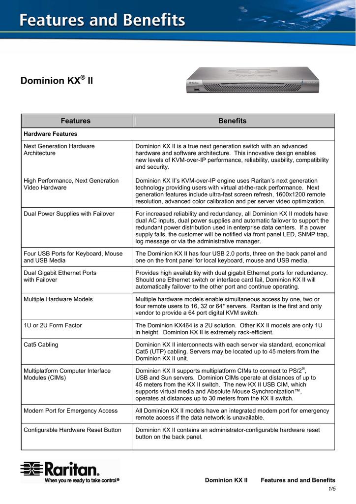 Dominion KX II | manualzz com