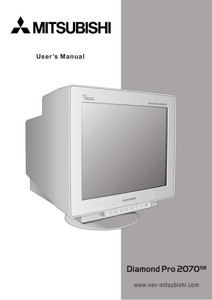 Mitsubishi diamond pro 2070sb manual