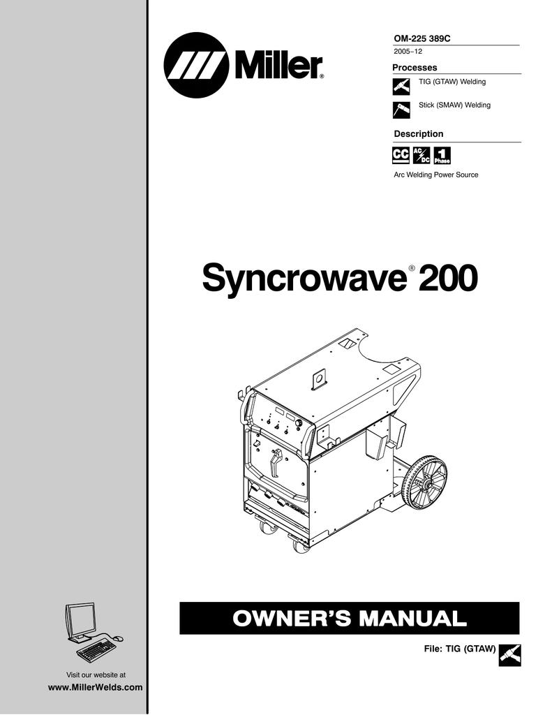 miller syncrowave 200 owner s manual manualzz com rh manualzz com  miller dynasty 200 dx wiring diagram