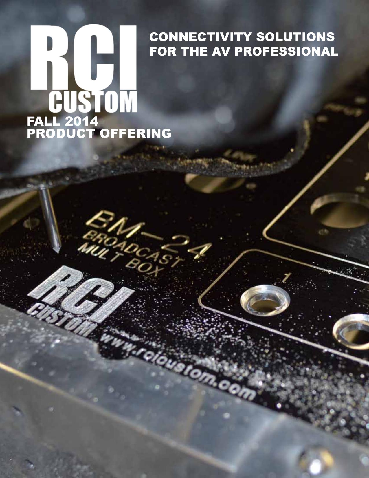 Current Catalog - RCI Custom Products
