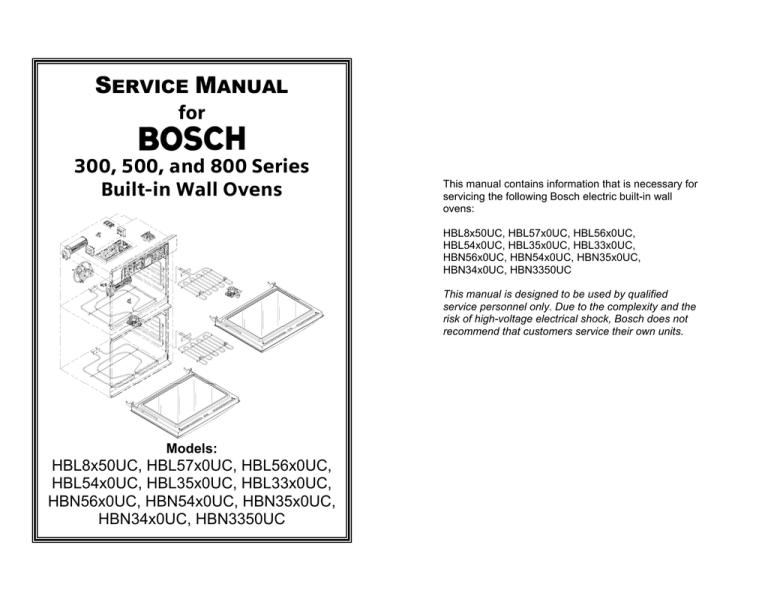 Bosch HBL56 Service manual | ManualzzManualzz
