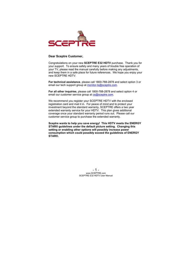 Sceptre E32 User manual | manualzz com