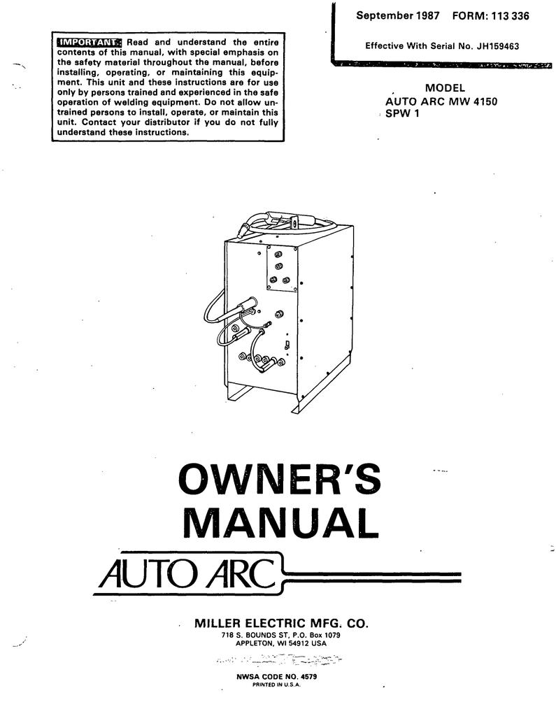 Miller Electric SPW 40 Technical data   Manualzz