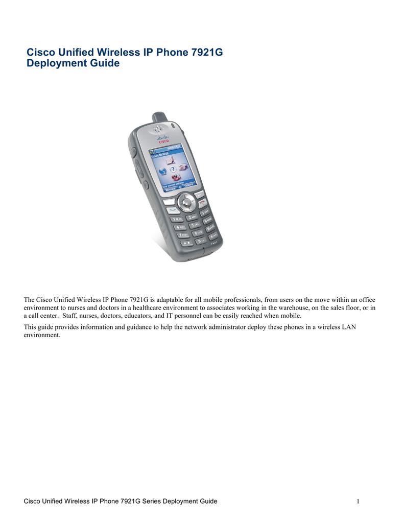 Cisco 7921 Specifications | manualzz com
