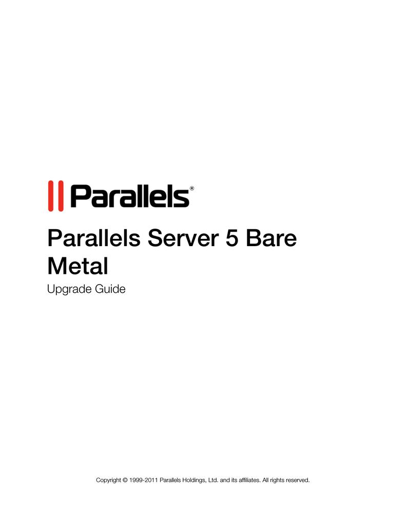 Parallels Server 5 Bare Metal | manualzz com