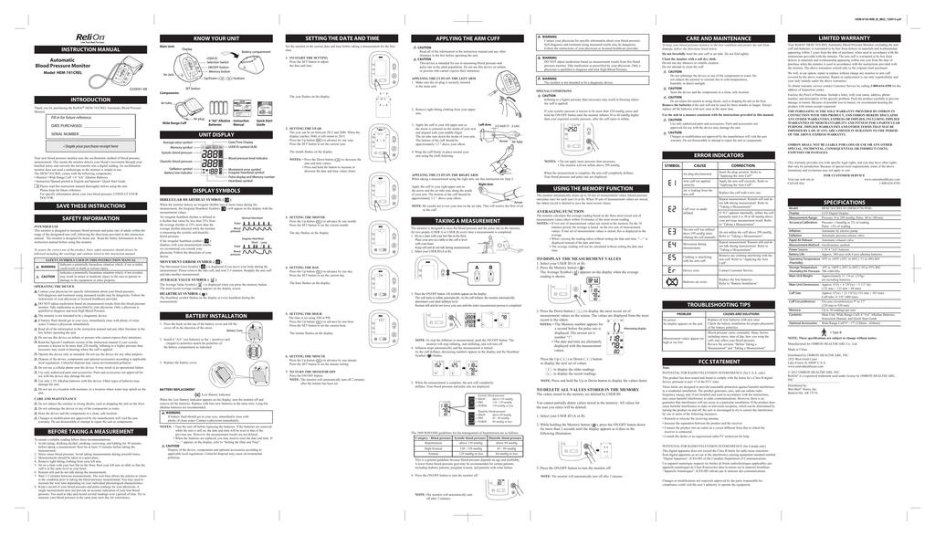 Relion Hem 741crel Instruction Manual Manualzz