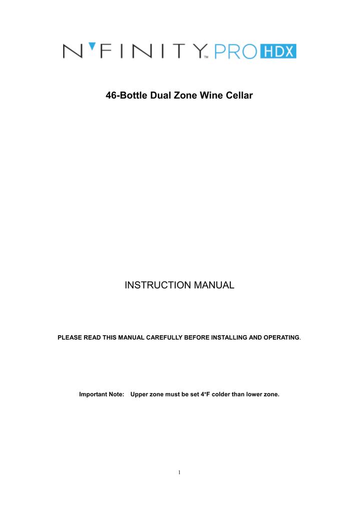 Wine Enthusiast N'finity Pro Instruction manual | manualzz com