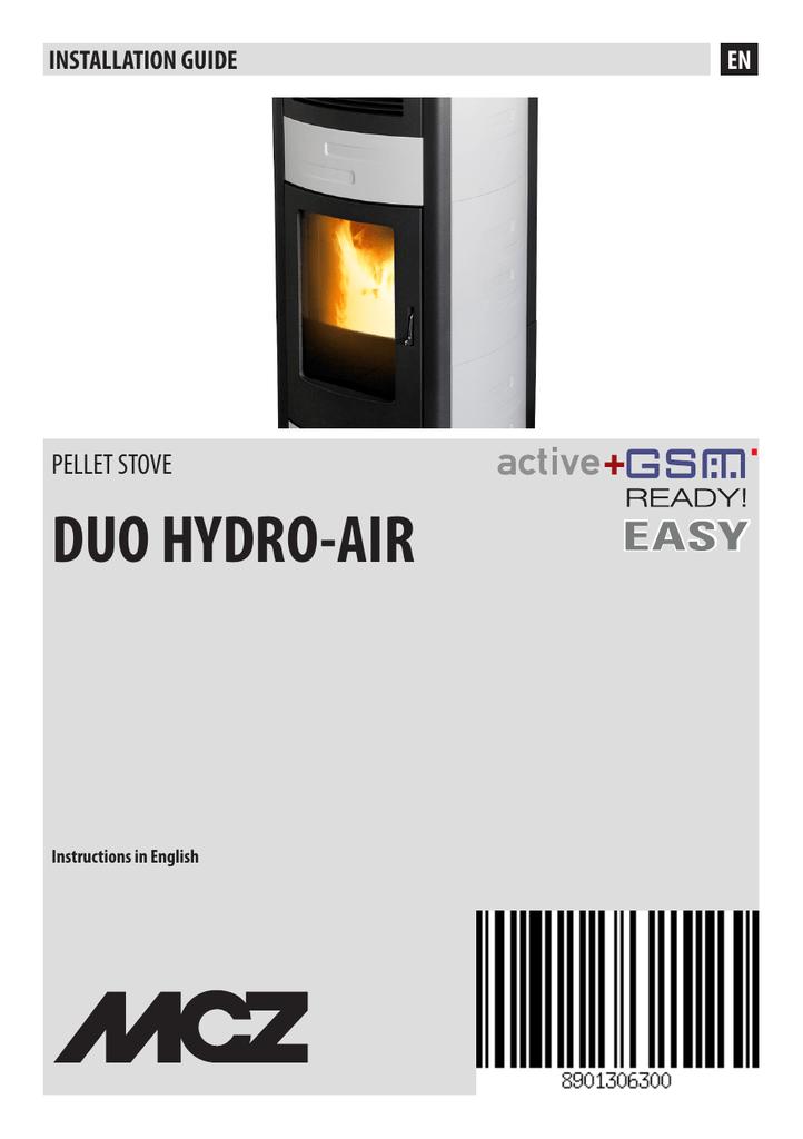 MCZ DUO HYDRO-AIR Installation guide | manualzz com